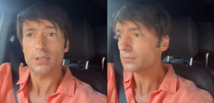 Radu Vâlcan în mașină