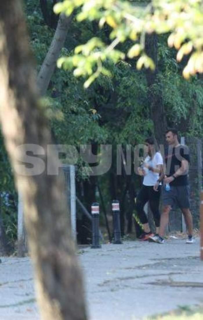 Andrei Sota și iubita, la alergat prin parc