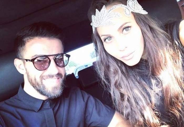 Lena și Gabi Enache, selfie în mașină