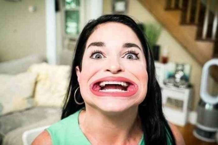 Cum arată femeia cu cea mai mare gură din lume! Samantha Ramsdell a intrat în Cartea Recordurilor datorită aspectului neobișnuit / FOTO