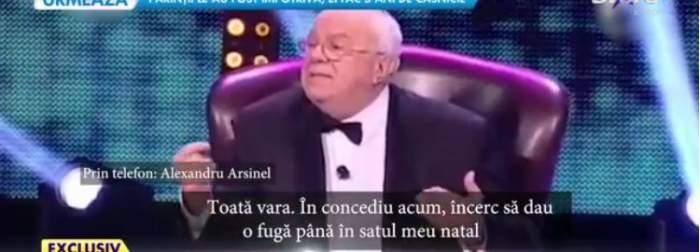 Alexandru Arșinel, noi detalii legate de starea de sănătate. Cum se simte maestrul după lupta cu boala / VIDEO