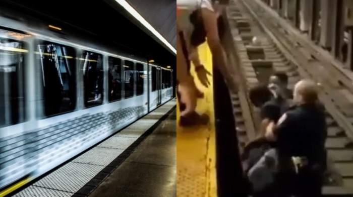 Un bărbat din New York a fost salvat în doar câteva clipe, după ce acesta a căzut pe șina metroului. Cum s-a petrecut incidentul