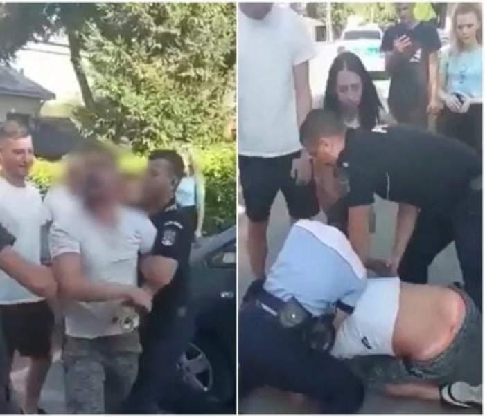 """Martorii intervin în scandalul din fața barului din Botoșani și acuză brutalitatea intervenției: """"L-au dat cu capul de asfalt"""""""