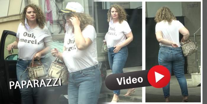 Oana Lis face senzație pe străzile Capitalei. Soția lui Viorel Lis nu simte nevoia să poarte sutien / PAPARAZZI