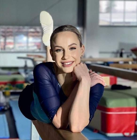 Sandra Izbașa, în echipament sportiv