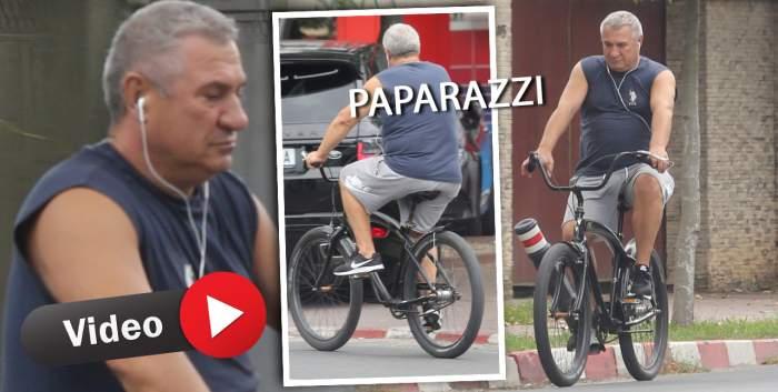 Puțină mișcare nu strică nimănui! Victor Becali, giumbușlucuri cu bicicleta, într-o zonă de lux a Capitalei / PAPARAZZI