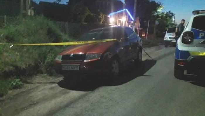Mașina în care a fost abandonată victima