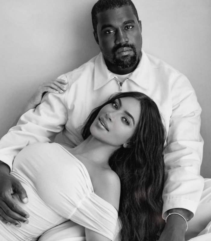 Kanye West cu fosta soție, Kim Kardashian
