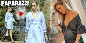 Gabriela Prisăcariu a făcut burtica mare, mare. Soția lui Dani Oțil așteaptă să nască, dar nu stă acasă / PAPARAZZI