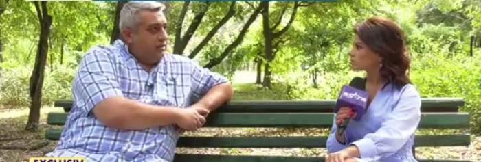 Gabi Luncă, interviu emisiune TV pe bancă