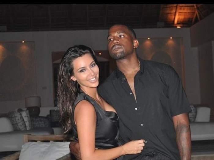 Kim Kardashian West alături de Kanye West