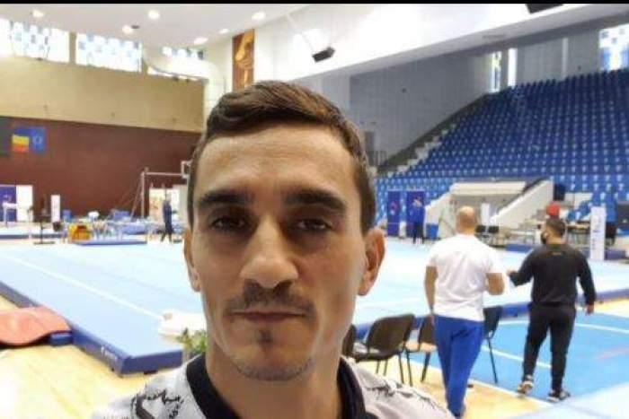 Marian Drăgulescu în sala de antrenamente