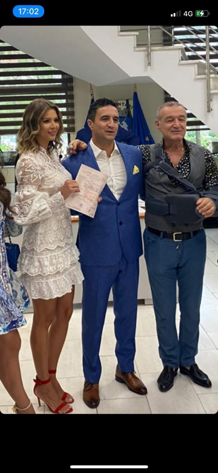 Lucian și Gigi Becali alături de Iulia Florescu