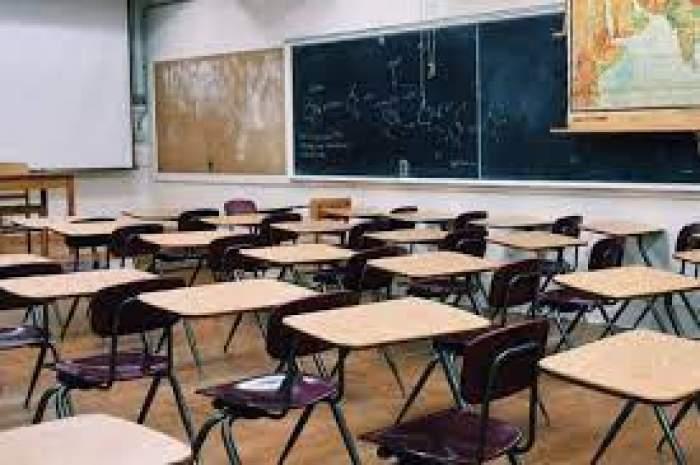 O sala de curs goală