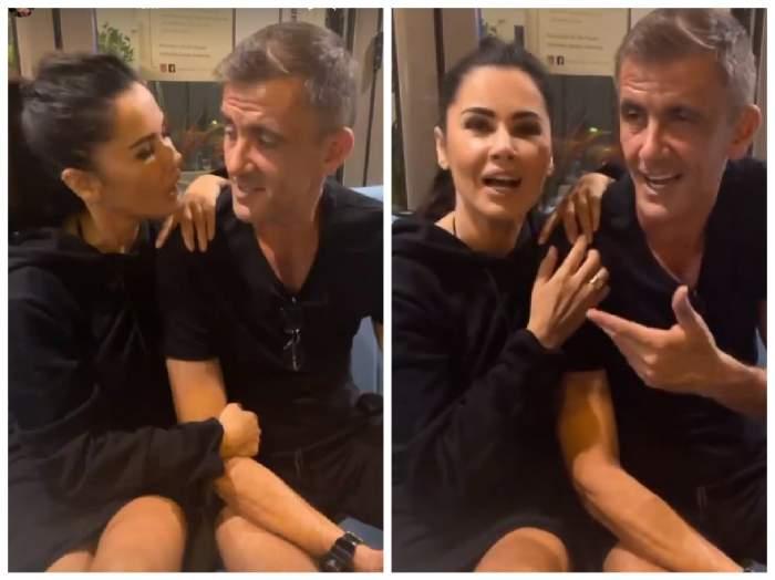 Capturi video din timpul întâlnirii Oanei Zăvoranu cu Cosmin Cernat