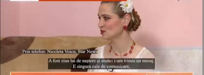 Nicoleta Voicu, interviu emisiune TV