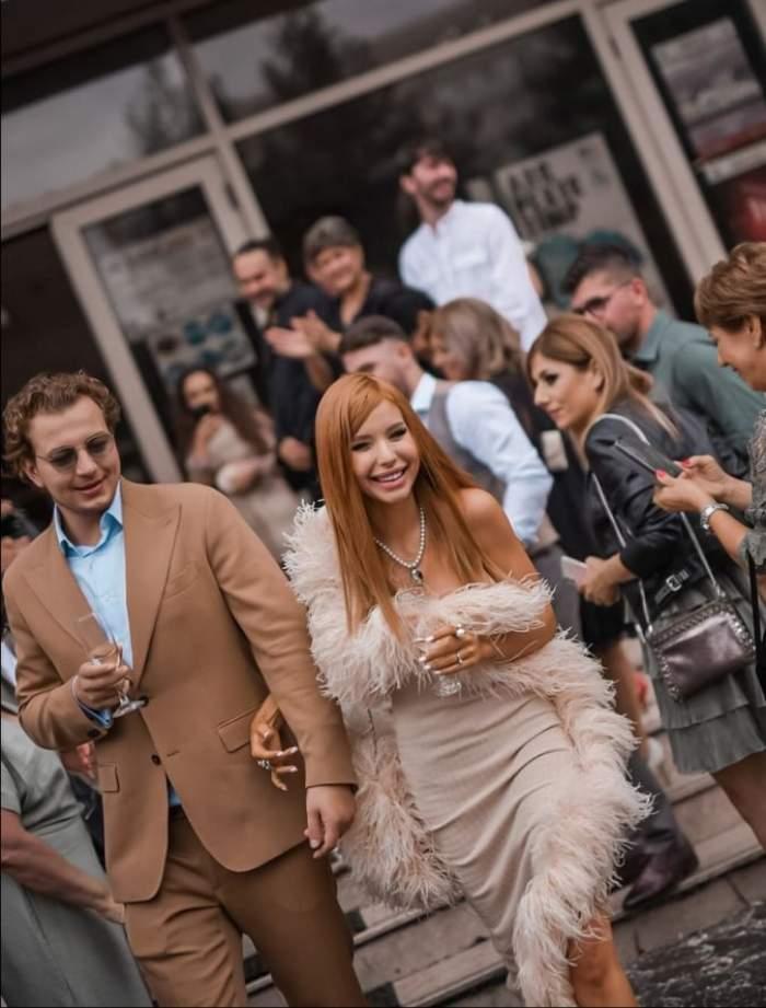 Primele imagini de la căsătoria lui Carmen Grebenișan cu Alex Militaru. Cine sunt nașii de cununie ai cuplui / FOTO