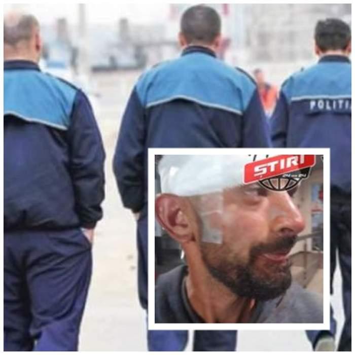 Colaj foto cu polițiști și victima din Baia Mare