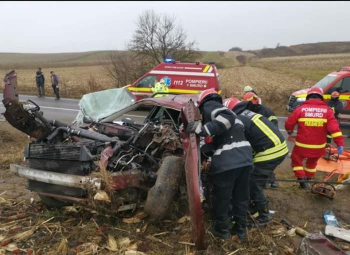 Trafic blocat pe DN1, după un accident grav în care un bărbat și o femeie au murit și alte patru persoane au ajuns la spital. Cum s-a întâmplat tragedia