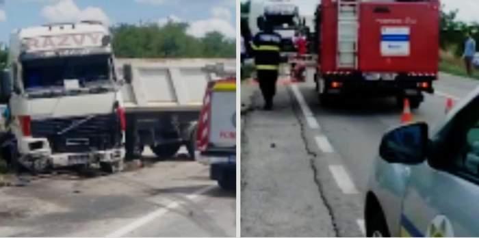 Accident mortal lângă Timișoara, după ce un TIR și patru mașini s-au ciocnit. Trei persoane au murit, iar alte patru au fost rănite