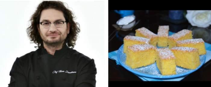 Rețeta de prăjitură cu mălai a lui Chef Florin Dumitrescu. Ușor de realizat, gustoasă și ideală pentru perioada în care se ține post
