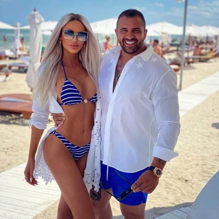 Bianca Drăgușanu și ALex Bodi s-au fotografiat îmbrățișați la mare