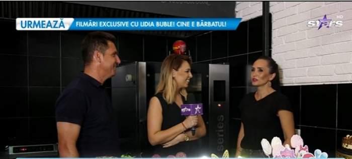 Narcis Răducan și soția, în timpul unui interviu