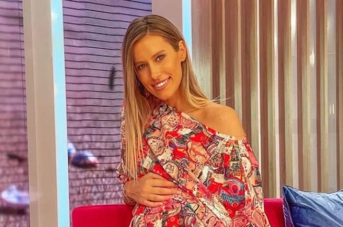 Gabriela Prisăcariu, cu mâna pe burtică