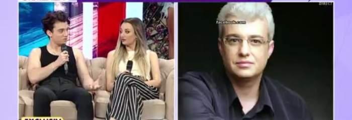 Copiii lui Cătălin Crișan în platoul unei emisiuni TV