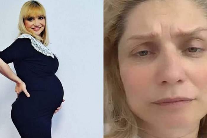 Colaj foto cu Cristina Cioran însărcinată și supărată
