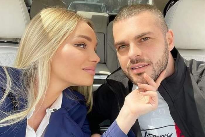 Maria Constantin și iubitul, selfie în mașină