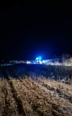 Accident grav în Teleorman. Două persoane au murit, după ce o mașină s-a izbit violent de două căruțe. A fost activat planul roșu de intervenție
