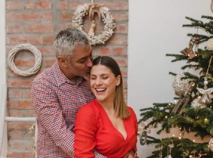 Tily Niculae și soțul, fericiți, sărutându-se