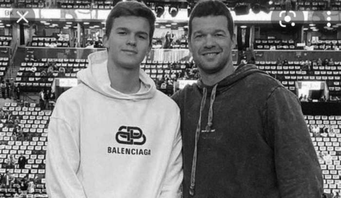 michael ballack cu fiul lui