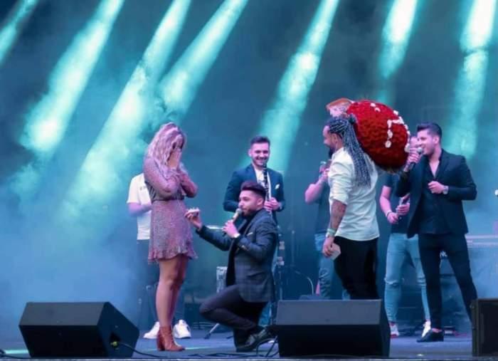 Luis Gabriel a cerut-o în căsătorie pe iubita lui, Haziran! Cum a reacționat blondina, în fața sutelor de fani / FOTO