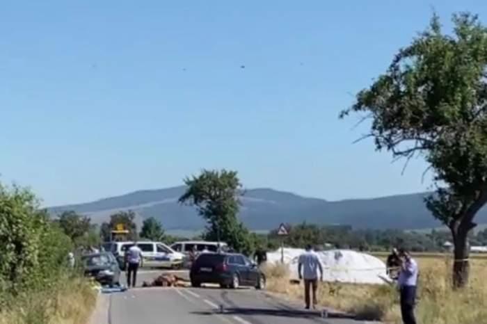 Accident grav de circulație în Brașov! Doi copii au decedat pe loc, iar alte trei persoane sunt rănite. Traficul este blocat