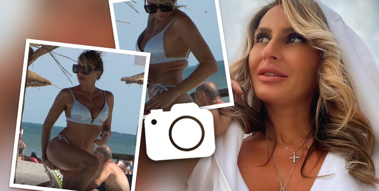 Crina Abrudan, imagini incendiare de pe plajă. Soția lui Gabi Popescu, surprinsă în cele mai indecente poziții la malul mării / PAPARAZZI