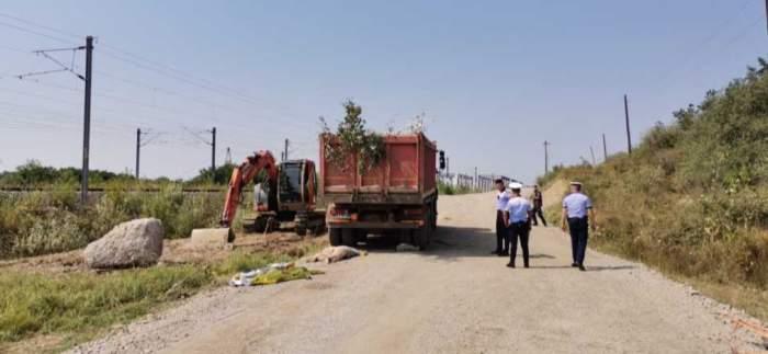 Accident teribil de muncă în comuna Mihalț! Un bărbat a murit, după ce a fost călcat de o basculantă / FOTO