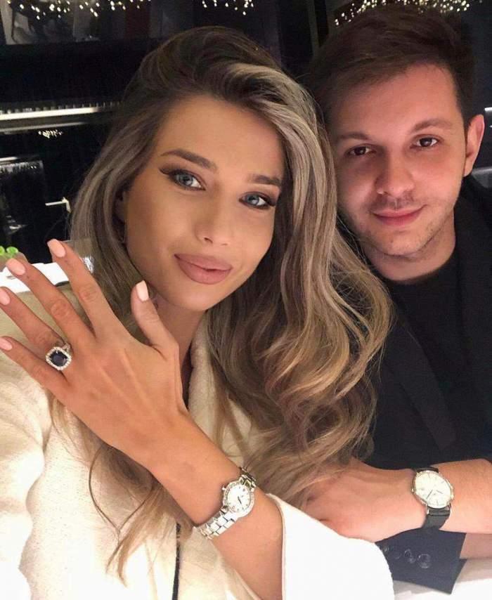 Maria Iordănescu își arată inelul de logodnă