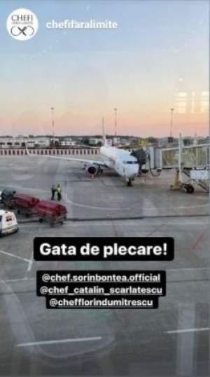 """Cătălin Scărlătescu, Sorin Bontea și Florin Dumitrescu au plecat în aventura """"Chef fără limite"""". Prin ce peripeții au trecut cei trei în aeroport / FOTO"""