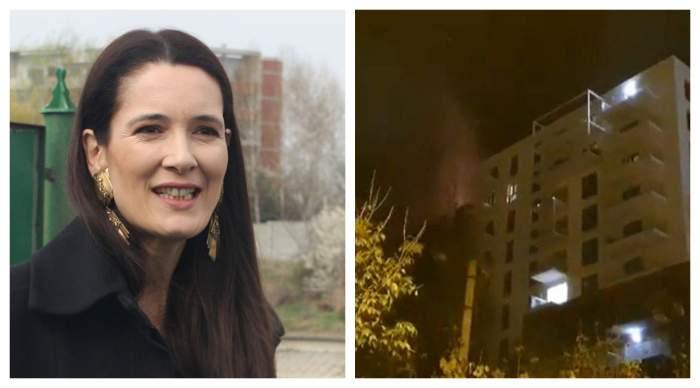 """Care a fost cauza incendiului din Capitală. Ce spune Clotilde Armand despre blocul care a luat foc: """"Am fi putut asista la o tragedie"""""""