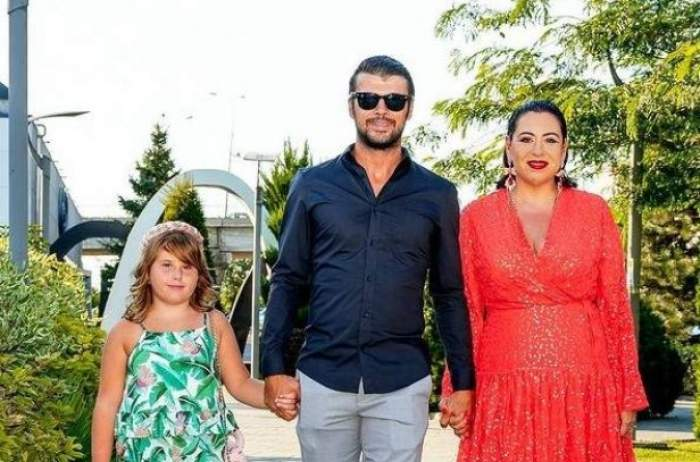 Oana Roman, alături de Marius Elisei și fetița lor