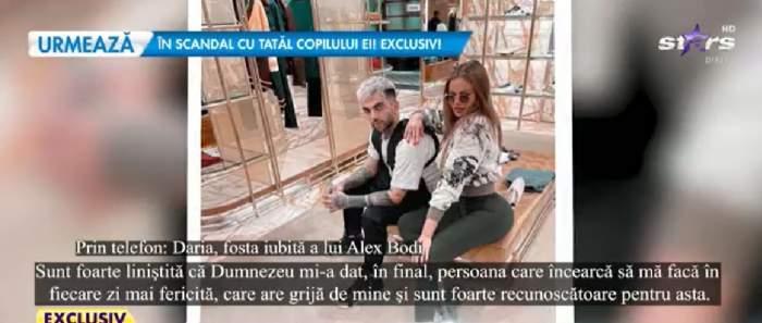 Daria Radionova alături de noul iubit, captură din emisiune