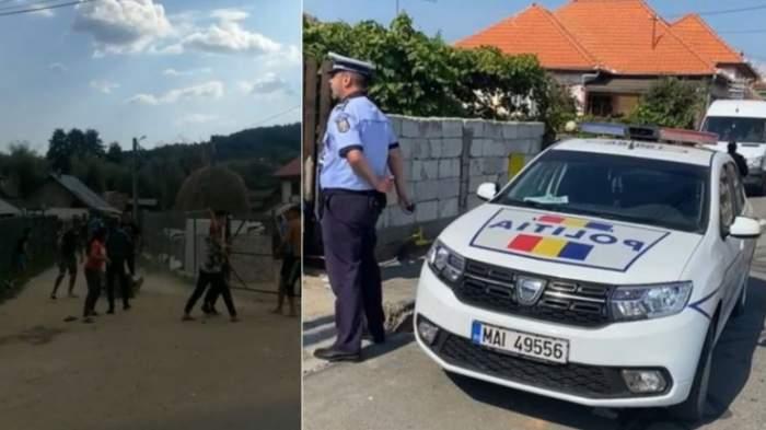 Două familii din Argeș s-au luat la bătaie cu lopețile, în mijlocul străzii. Poliţiştii au chemat de urgență mascaţii / FOTO