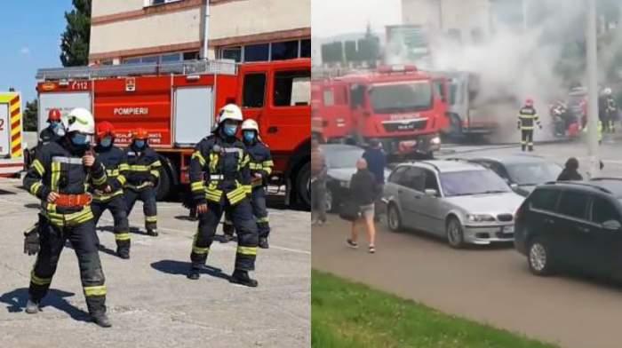 Momente de panică la Târgu Mureș! Un autobuz a luat foc în mers. ''Cumpărăm autobuze vechi...''/ VIDEO
