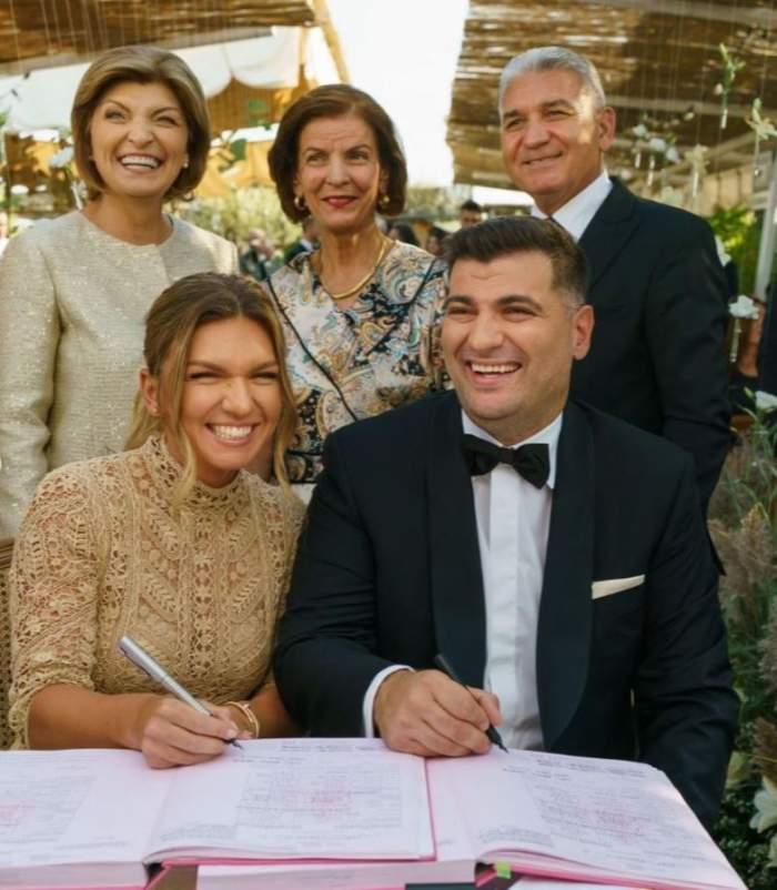 Ce nu s-a văzut la nunta Simonei Halep. Sportiva a postat primele imagini de la fericitul eveniment / FOTO