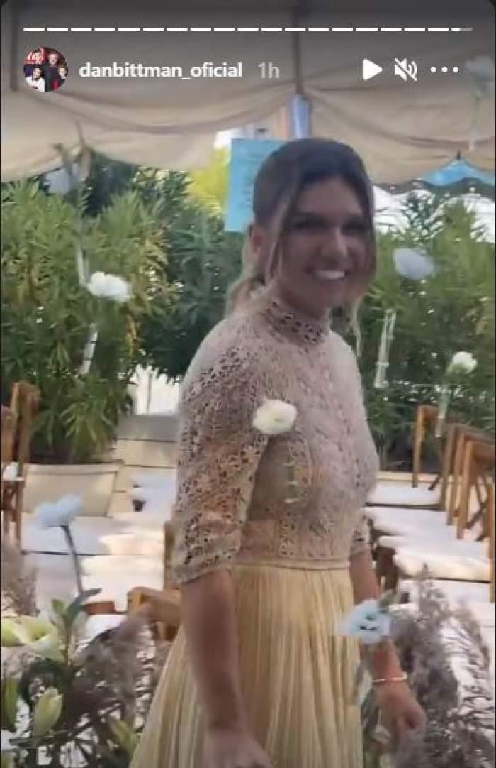 Cât a costat rochia de seară  pe care Simona Halep a purtat-o la petrecerea de după cununia civilă. Prețul este colosal