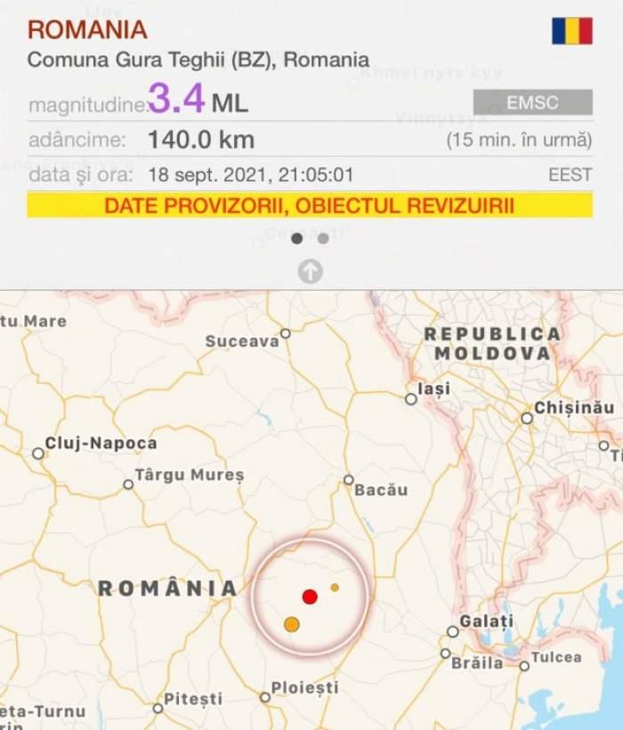 Cutremur în România, în urmă cu puțin timp. Ce magnitudine a înregistrat seismul