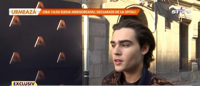 Radu Ștefan Bănică, în timpul interviului la Antena Stars