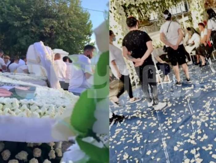 Primele imagini de la înmormântarea lui Petrică Cercel. Celebrul manelist este dus la groapă în aceste momente / VIDEO